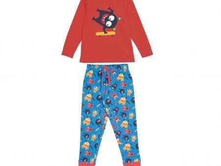 Children's Pyjamas – Organic Cotton – Fun Monster Design