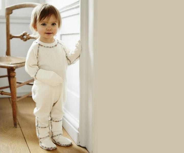 Comfort Eczema Onesie PJs – Organic Cotton Unbleached and Un-Dyed