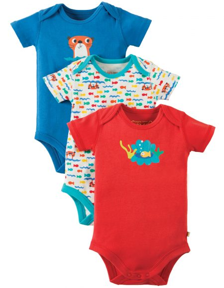 Frugi Otter Body Suit – 3 Pack