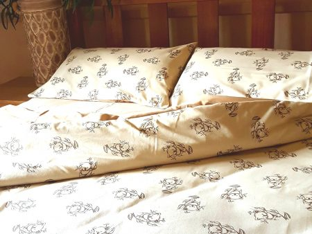 Organic Cotton Koala Print Quilt Covers and Sheets – Mint or Natural