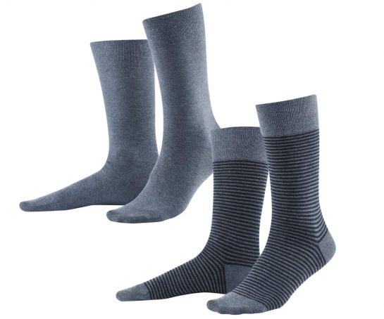 Mens-Socks-Organic-Cotton-2-pack-Infinity-Blue