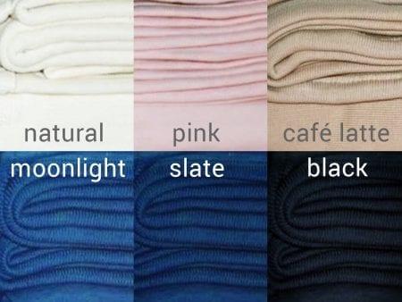 GOTS Certified Organic Fleece Fabric – various colours