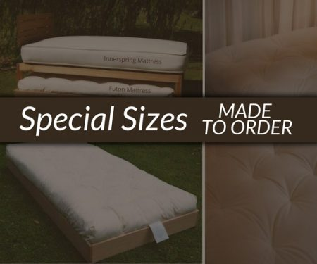 Futon Mattresses SPECIAL SIZES – made to order