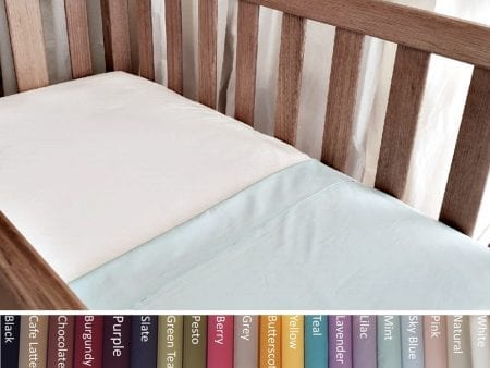 Fitted Sheet FOR BABIES – Organic Poplin – various colours