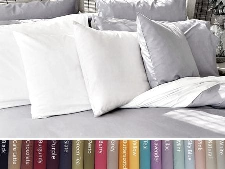 Pillowcases – Organic Poplin – Queen Size – various colours
