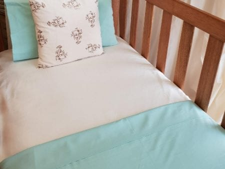 Fitted Sheet FOR BABIES – Organic Cotton – various colours