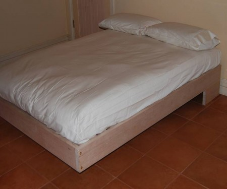 Hardwood Bed Base – Apollo