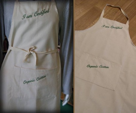 Apron with Pocket – I am Certified Organic Cotton
