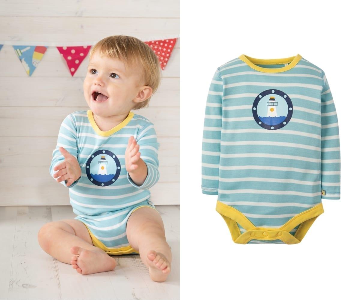 3739c0f21 Babygrow Body Suit – Organic Cotton – Sailor Front – newborn to 2 ...