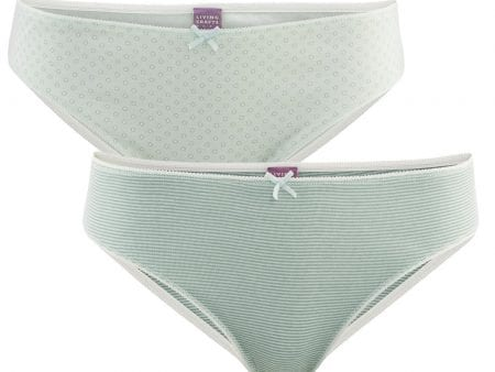 BECKY Organic Cotton Briefs – pack of 2 – large sizes left