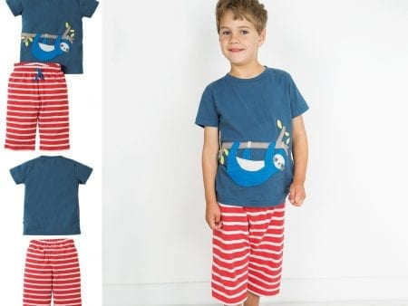 Boys Pyjamas – Organic Cotton – Sloth Design – 2 to 7 years