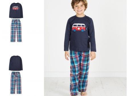 Boys Slumber Pyjamas – Navy Camper – 2 to 3 years