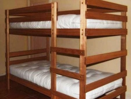 Bunk Beds – Single with optional mattress/futon bundle