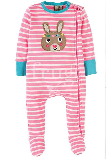 Zipped Babygrow – Pink Bunny
