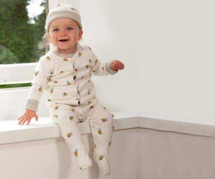 Buzzy Bee Babygrow – Organic Cotton – newborn to 18 months