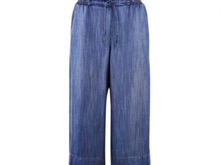 Womens Celine 100% Lyocell Trousers – Denim Look – Large