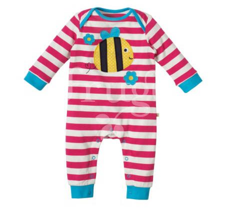 Charlie Romper – Raspberry Stripe Bee