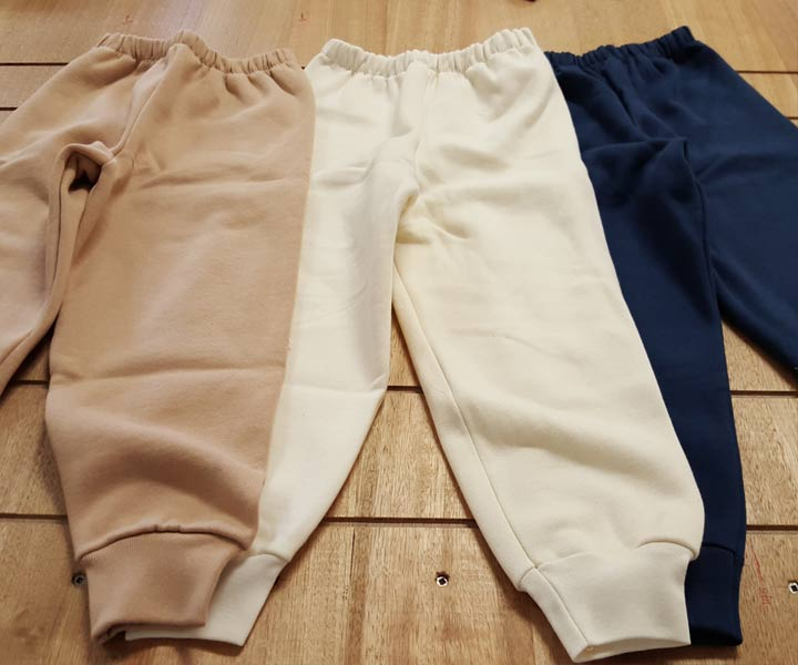 Childrens Tracksuit Pants – Organic Cotton – Various Colours and Sizes
