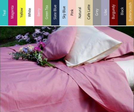 Discounted 100% Cotton Flat Sheet Magenta
