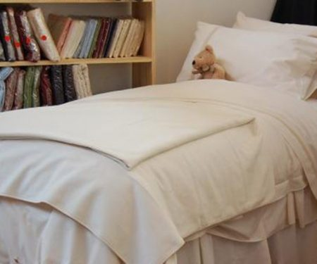 Discounted Raw Cosy Double Fitted Sheet