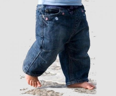 Organic Cotton Denim Jeans – Baby Girls