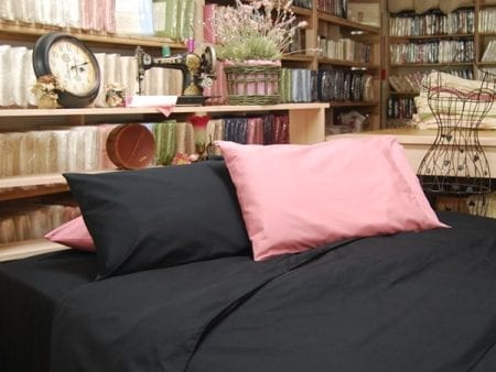 Black Pillowcases – Organic Poplin – Queen Size – NOW HALF PRICE