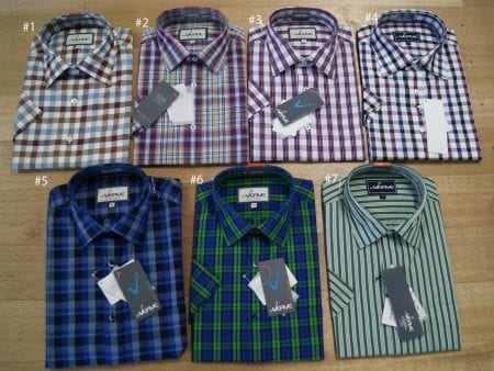 DISCOUNTED Mens True Cotton Shirts – check, plaid or patterned – large