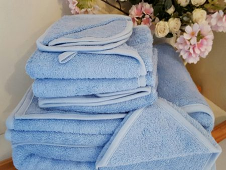 DISCOUNTED Organature Hand Towels – Organic Terry Towelling – blue (3 pack)