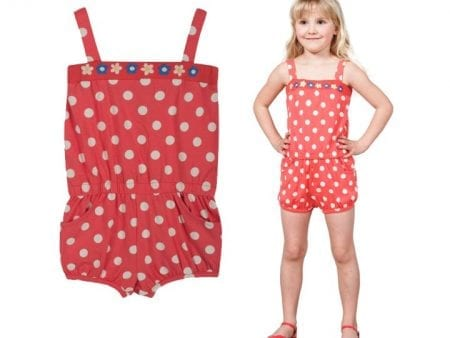 Girls Playsuit – Organic Cotton – Festival Print – 3 to 6 years