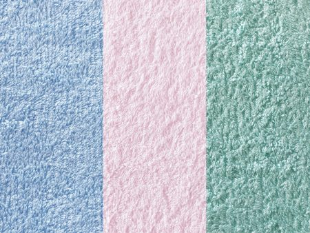 GOTS Certified Organic Terry Towelling Fabric – Light Blue, Pink or Mint