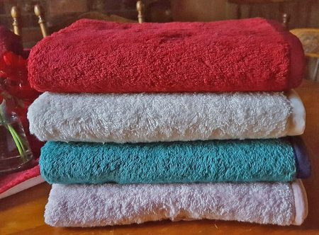 Organature Large Organic Cotton Coloured Hand Towels
