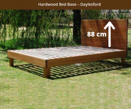 Hardwood Bed Base – Daylesford 88 cm headboard