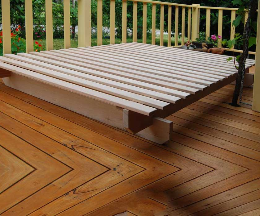 Hardwood Bed Base – Katherine Low Rise