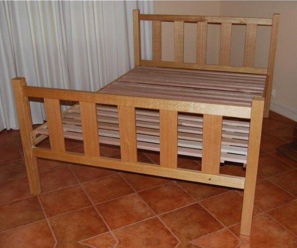 Hardwood Bed Base – Maldon