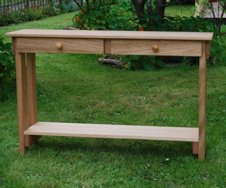 Hardwood Console – With 2 drawers