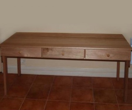 Hardwood Desk – Extra Long with 3 Drawers