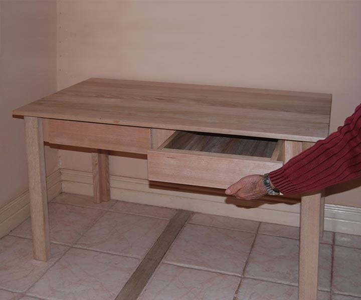Hardwood Desk – With 2 Drawers