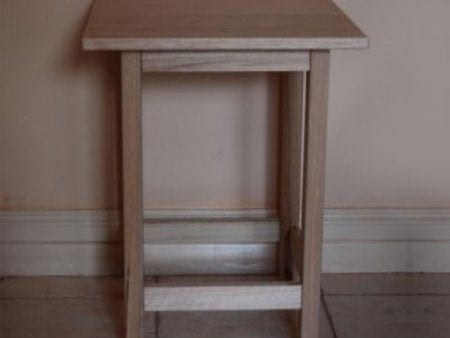 Hardwood Side Table – No Shelf