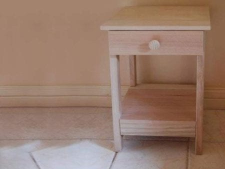 Hardwood Side Table – With Shelf & 1 Drawer