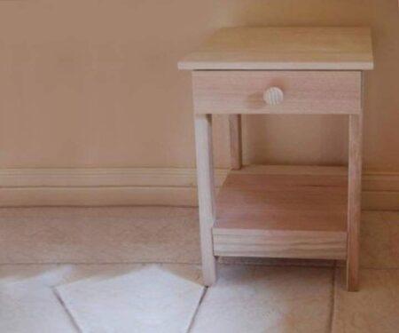 Hardwood Side Table – With Shelf & 1 Drawer
