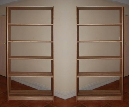 Hardwood Timber Shelving Unit