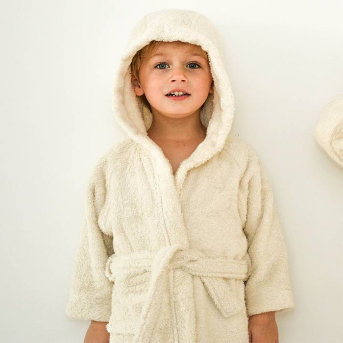 Kids Bathrobe – Organic Cotton – Natural Colour