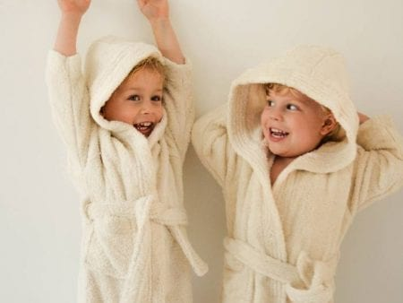 Kids Bathrobe Organic Cotton Natural