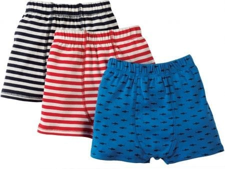 Kids Underpants – Organic Cotton – Trunk Style – (3 Pack) – NOW HALF PRICE