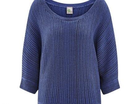 Chunky Knit Sweater – Recycled Hemp / Organic Cotton – Cornflower Blue