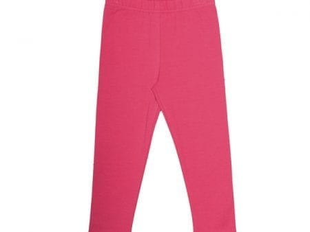 Girls Leggings – Organic Cotton – Raspberry – 5 to 6 years