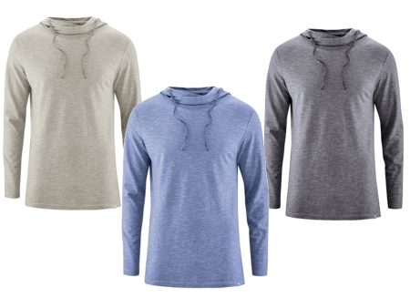 Light Weight Long Sleeved Hoodie – Organic Cotton / Hemp – various colours