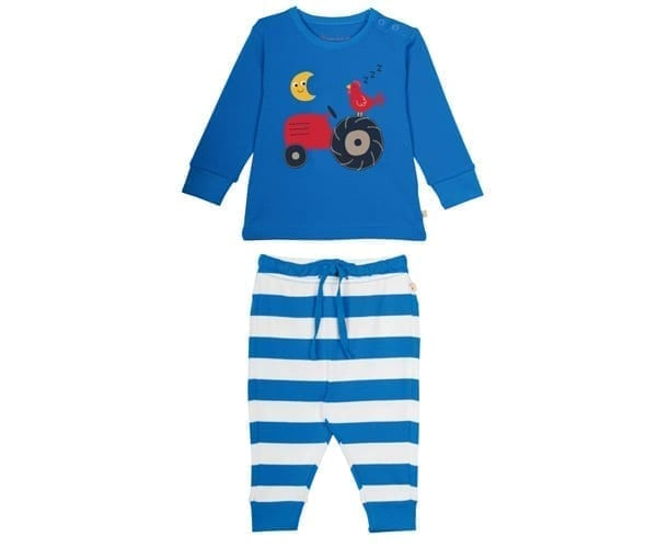 Little Long John PJs – Organic Cotton Interlock – Tractor Motif – 2 to 3 years