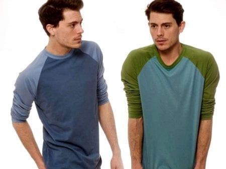 Mens Baseball Shirts – Organic Cotton – various colours