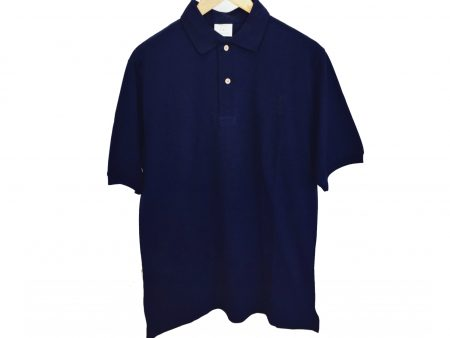 Mens Organic Cotton Polo Shirt – Navy – Small Adult or Large Child Size – NOW HALF PRICE